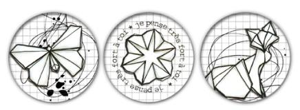 2015 Badges origami custo