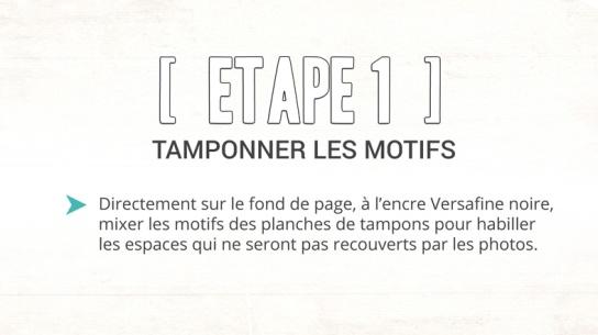 Etape 1- tampons