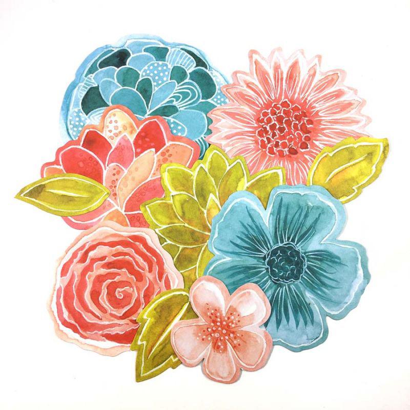JARD01 lencreetlimage die-cuts fleurs
