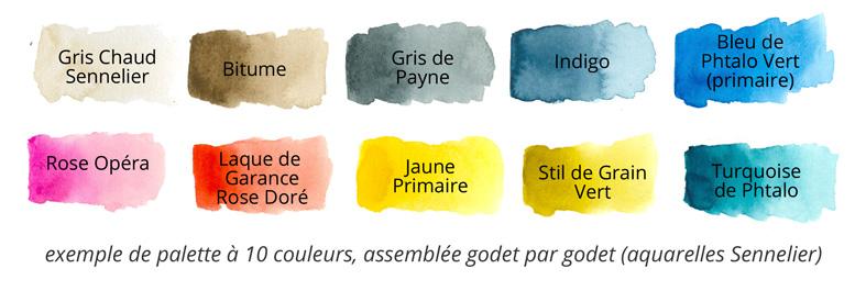 zNuancier Aquarelle 10 couleurs